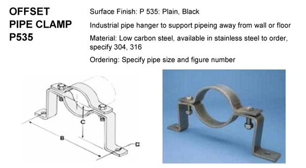 Offset Pipe Cl&s  sc 1 st  Polygon International Technology Inc. & Offset Pipe Clamps - Polygon